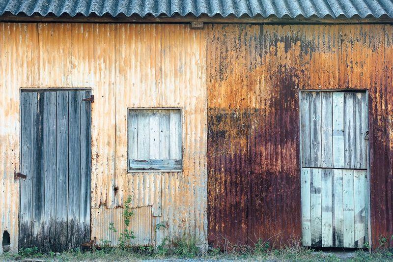 Old Rusty Metallic Building