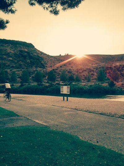 Lake with the family. Like and follow. Lake Swim Fun Sunset