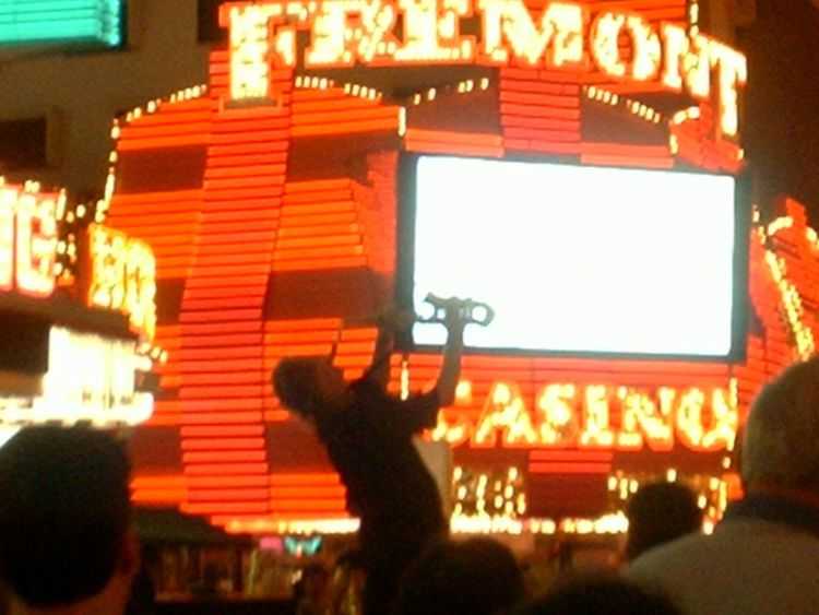 Arts Culture And Entertainment Freemont Street Experience Fremont Casino Illuminated Indoors  Night Saxophone Vegas