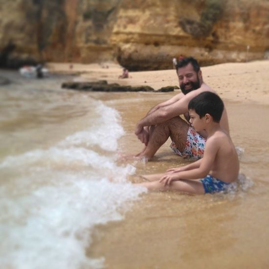 Good times Me Gpoy Beard Tome Kids love beatch algarve portugal