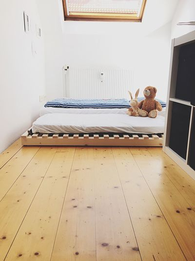 Studio No People Wood Teddy Teddybear Teddy Bear Bed Bedroom Bedtime Kids Toy Toys Room Indoors  Interior Design Interior White Wooden Floor Window Berlin Kreuzberg