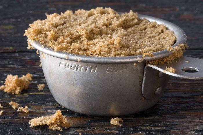 1/4 cup of brown sugar Brown Sugar Light Vintage Measuring Cup Ingredient Culinary Cuisine Baking Sweetener