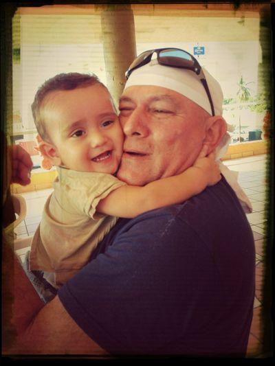 Con su Tío Adrian