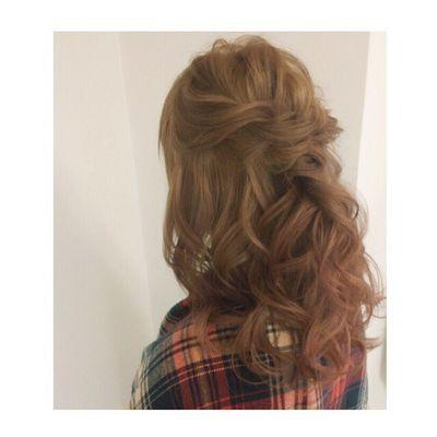 ハーフアップ♡ エアリーに♡ ハーフアップ 神4コンテスト ヘアセット アレンジ Hair セットサロン ゼット ヘアアレンジ Byshair