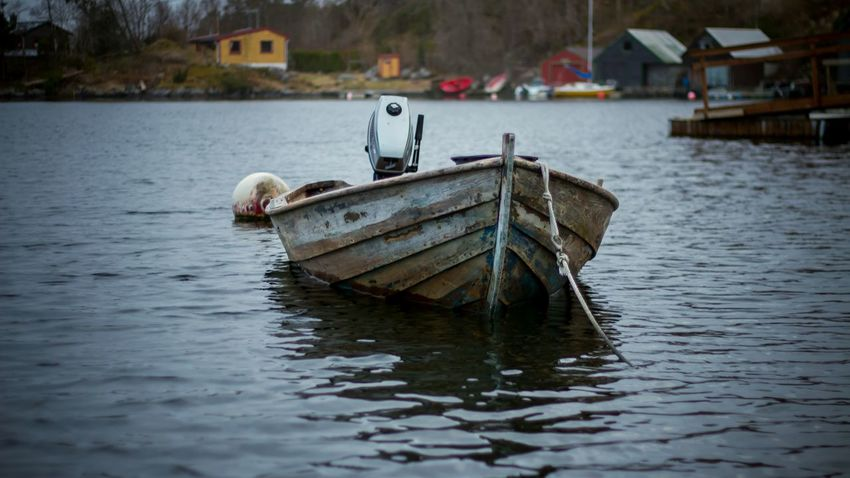 Foldnes Boat Marine Wooden Boat Sea Seaside Summer Water