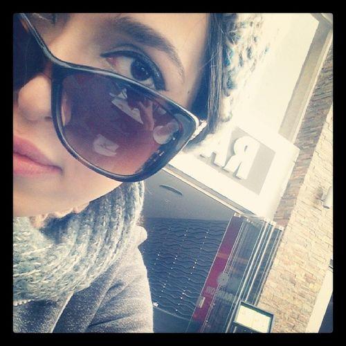 @ Rainbowcafe Cafe Selfie Instaselfie egyptiangirl girl glasses eyes makeup chilling winter