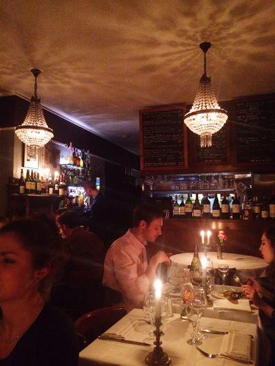 What a cute little restaurant and cozy place! Paris Vin Rouge Foodies