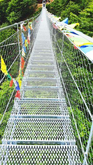 Architecture Cloud - Sky Bridge Bridge View Freedom Free Spirit Tibetan Bridge Tibetan  Trees Trekking Campogrosso Italy