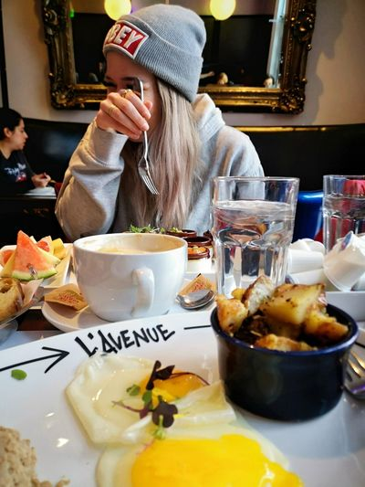OBEY OBEY ✋ Eating Drink Plate Women Table Drinking Glass Food And Drink Brunch Toasted Toasted Bread Continental Breakfast English Breakfast Served