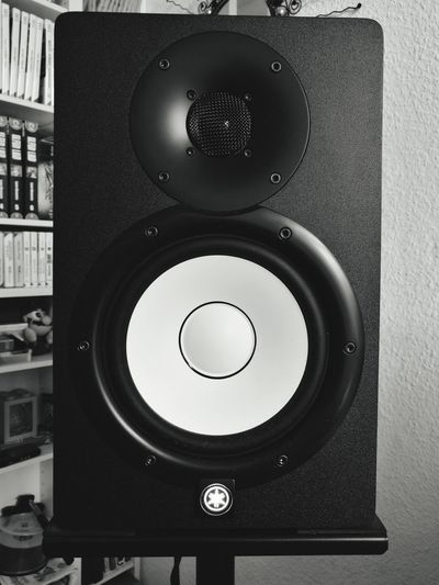 Music Speaker Arts Culture And Entertainment Stereo Audio Equipment Noise Indoors  No People Close-up Day Yamaha Yamaha HS8 HuaweiP9Photography Huaweiphotography HuaweiP9 Huawei Leica Berlin