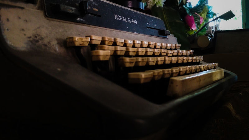 Typewriters of old in Indonesia Cash Register Business Finance And Industry Retail  Close-up Market Display Flower Market