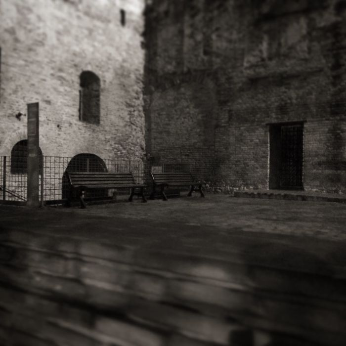 Built Structure Castel Sismondo Malatesta Castle Rimini Italy Building Exterior Architecture Brick Wall No People Outdoors Picoftheday Black And White Biancoenero Blackandwhite Monochrome