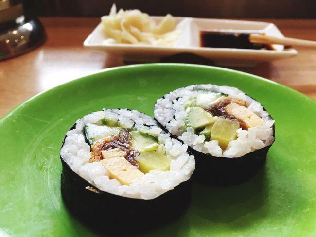Sushi Ingwer Ginger Soja Wasabi Reis Seetang Algen Gurke Stäbchen Teller