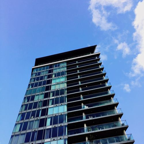 Architecture Building Exterior Low Angle View Built Structure Sky Modern No People City Outdoors Clear Sky Day Skyscraper Glass Modern Blue