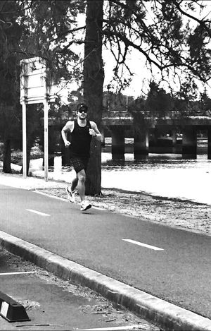 Jog it in. Fitness Running That's Me Self Portrait Blackandwhite Hi! IPhoneography Nature Enjoying Life Streetphotography