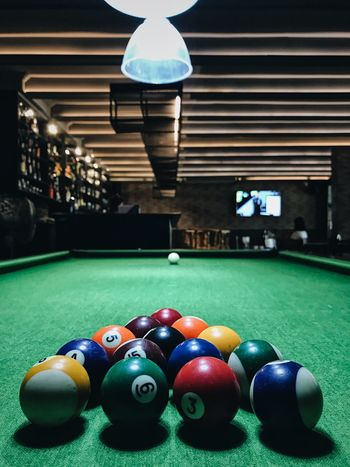 IPhoneography IPhone7Plus VSCO Pool Ball Ball Sport Multi Colored Pool Table Indoors  Table