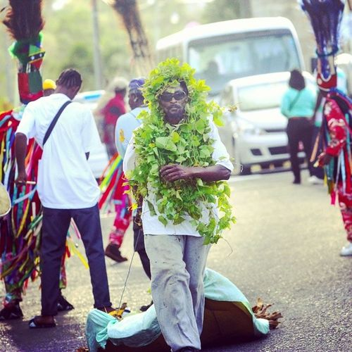 Welcome to the Green Valley Parade... only in StKitts ... Cayon Carnivalparade Caribbeancruise Canon Canon70d Streetphotography Streetjamming Canonphotography