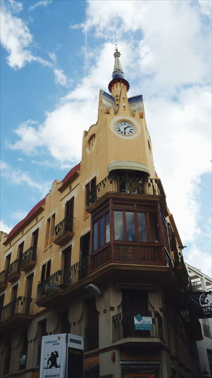 Architecture Cloud - Sky Sky Outdoors Clock Low Angle View Architecture Day Travel Sitges Barcelona España