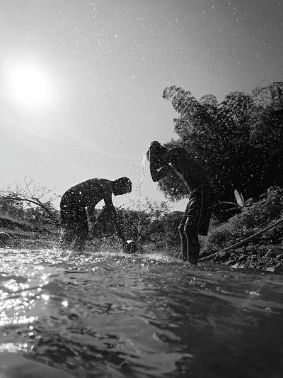 People And Places Water Motion Splashing Unrecognizable Person Waterfront Scenics Nature Beauty In Nature Outdoors Non-urban Scene Urban Adventure Adventuretime Adventures Adventure Travel Monochrome Photography