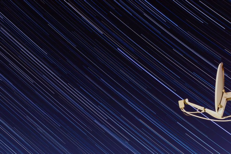 Star trail Stars Star Trail Night Star - Space Low Angle View No People Outdoors Beauty In Nature Star Trail Astronomy Galaxy Sky Space Exploration Technology
