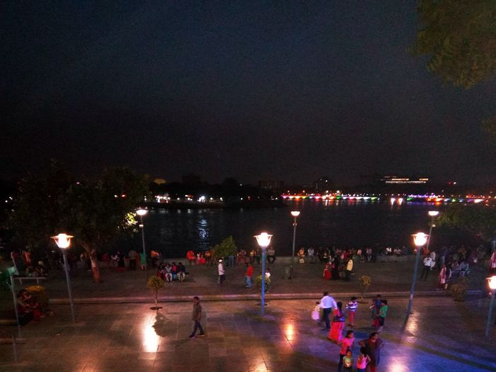 Kankaria Lake Ahmedabad night Illuminated Vacations Leisure Activity Crowd Lifestyles Outdoors