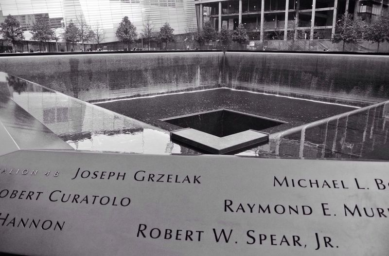 A tribute to those who died in the attack of September 11, 2001.
