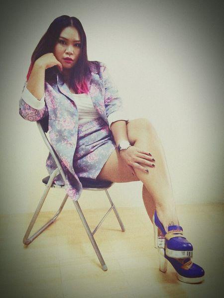 Asian Girl High Heels Females Sitting Women Indoors  Clothing Brand
