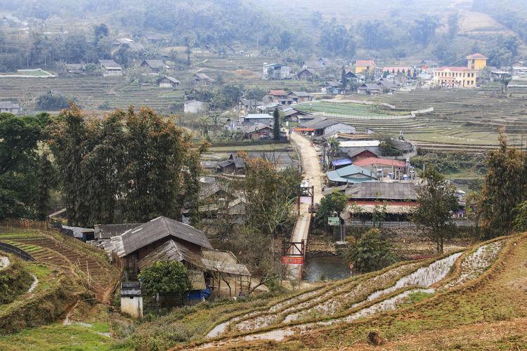 Village Of Lao Cai Near Sapa In North Vietnam