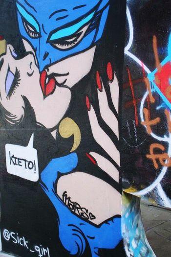 Batman and superwoman. . . .heroic kisses. . .(Abandoned Miami Marine Stadium Key Biscayne, FL)