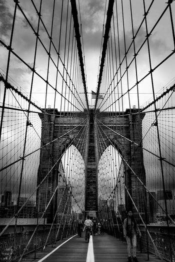 Spider-Man's dream Jasoncrockettphotography Architecture Architecture_bw Black And White NYC Bridges Amazing Architecture