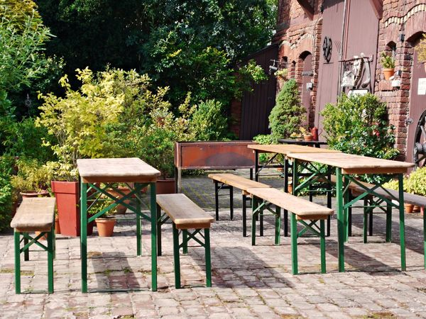Architecture Barbecue Grill Barbecuetime Benches Brick Building Building Exterior Chair Day Folding Bench Folding Table Front Or Back Yard Furniture Nature No People Outdoors Patio Plant Table Tree Wood - Material