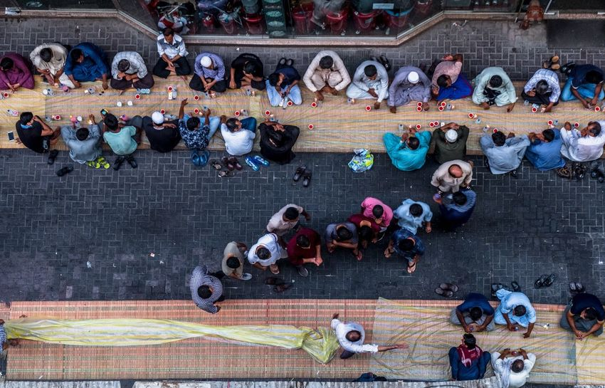 Preparing for Iftar Crowd Large Group Of People Group Of People Real People High Angle View Multi Colored Architecture The Street Photographer - 2018 EyeEm Awards