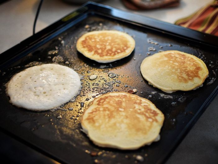 Food Food And Drink Healthy Eating Indoors  Freshness No People Close-up Ready-to-eat Day Pancakes Cooking Cooking At Home Togetherness Family Breakfast Food And Drink Food Photography Heat Party Preparation  Pancake