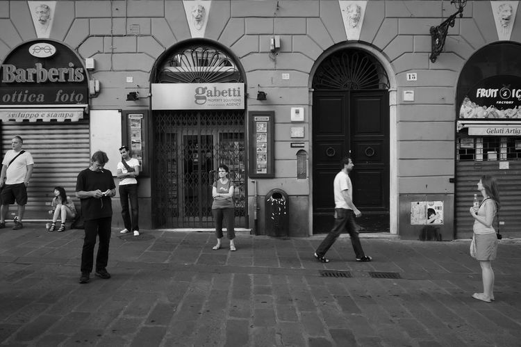 Scene #1 Architecture Group Of People Real People Street Footpath Walking City Genova Italy Streetphotography