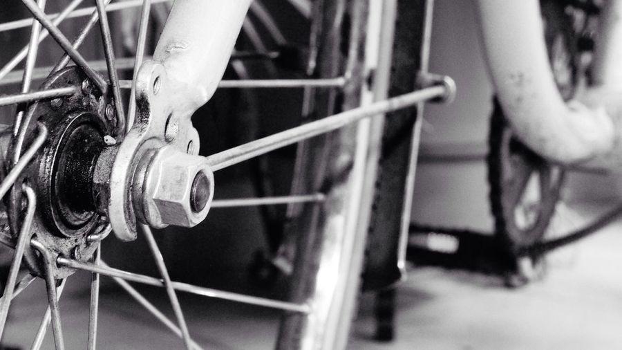 Bike Wheels B&w Photography