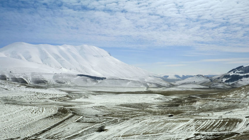 Altopiano Beauty In Nature Castelluccio Cloud - Sky Cold Temperature Italy Landscape Landscapes With WhiteWall Monti Sibillini Mountain Scenics Sky Tranquil Scene Wind Winter The Great Outdoors With Adobe The Great Outdoors - 2016 EyeEm Awards