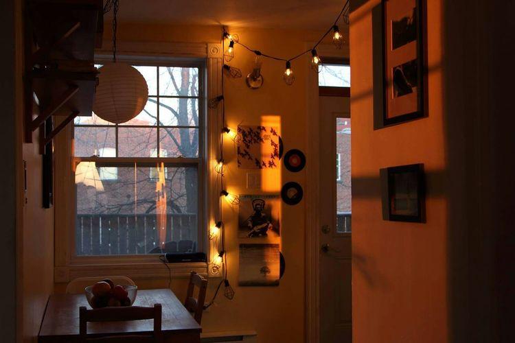 Illuminated Home Showcase Interior Vintage Vintage Kitchen Indoors  Vinyle Vinyladdict Home Interior Home Light Home Lighting Window Lighthouse Light Illumination Illuminated By The Sun Lantern Bohemian Style