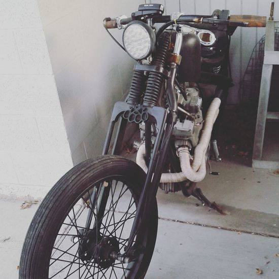 Land Vehicle Mode Of Transport Motorcycle Wheel No People Chopper Yamaha XS400 Bobber Second Acts