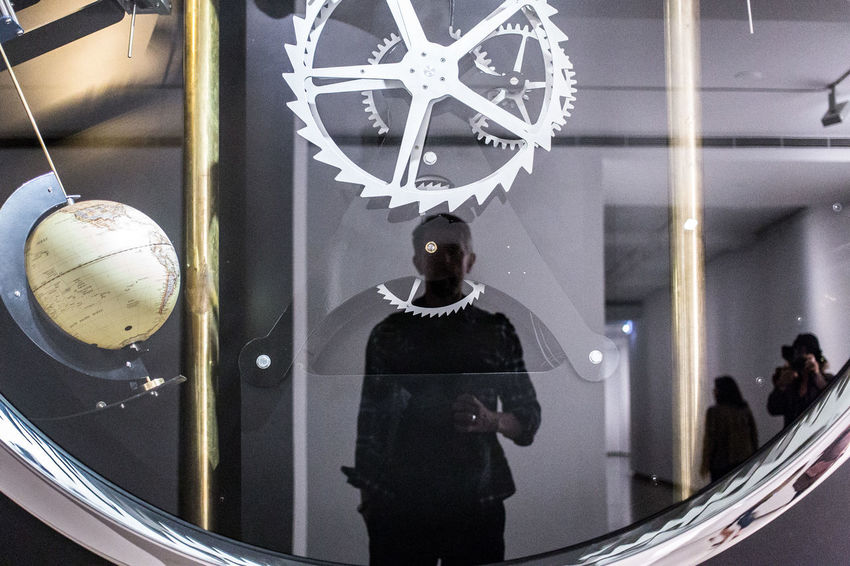 Self portrait at the Museum of Contemporary Art, Sydney, Australia Australia Contemporary Art MCA Museum Of Modern Art Clock Measuring Time Mechanics Mechanism Museum One Person Real People Reflection Self Portrait Selfie Sydney Time Watch