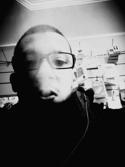 That's Me Selfie Smoking At Work Black And White Retrica