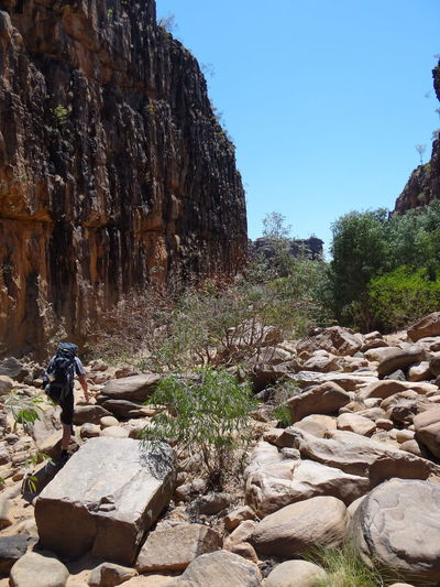 Katherine Gorge, Nitmiluk National Park, Northern Territory, Australia 43 Degree Australia Gorge Hot Kakadu National Park Katherine Katherine Gorge Nitmiluk National Park Northern Territory Red Trekking Beauty In Nature Day Forest Full Length Heat Heat - Temperature Land Leisure Activity Lifestyles Men Nature Nitmiluk One Person Outdoors Plant Real People Red Earth Rock Rock - Object Rock Formation Sky Solid Sunlight Tree Trek