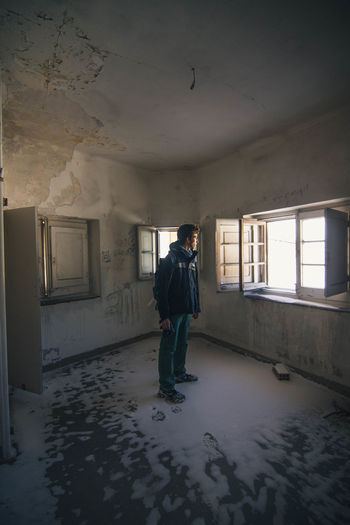 //abandoned places. Urbex Abandoned Abandonedplaces Tones Window Indoors  Full Length Abandoned Men Standing People Colour Your Horizn Stories From The City Inner Power Adventures In The City