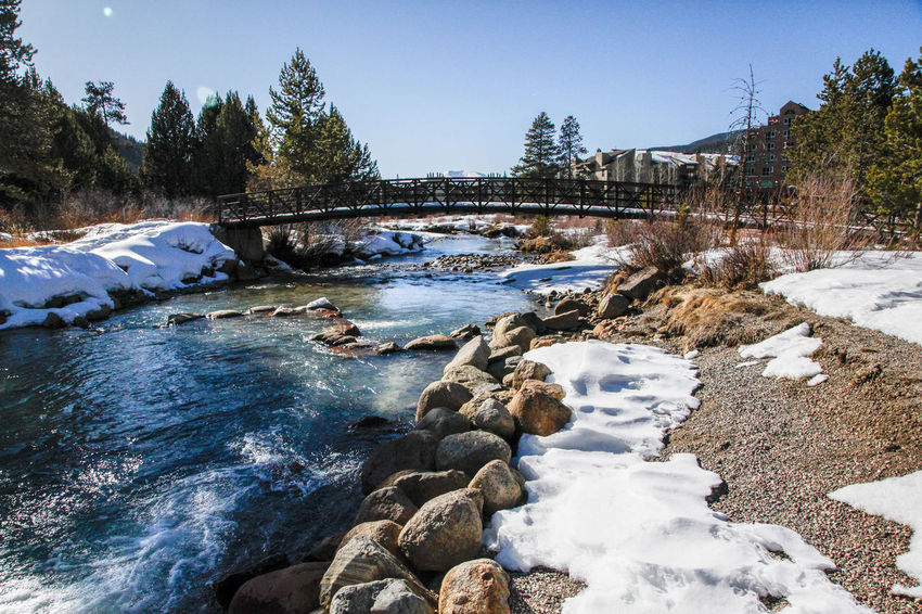 Beauty In Nature Cold Temperature HDR KeystoneSkiResort River Rock - Object Scenics Snow Tranquility Winter First Eyeem Photo