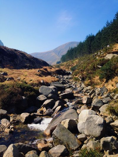 Edge Of The World Mourne Mountains Hiking Mountains Stones River Nature Northern Ireland Sky