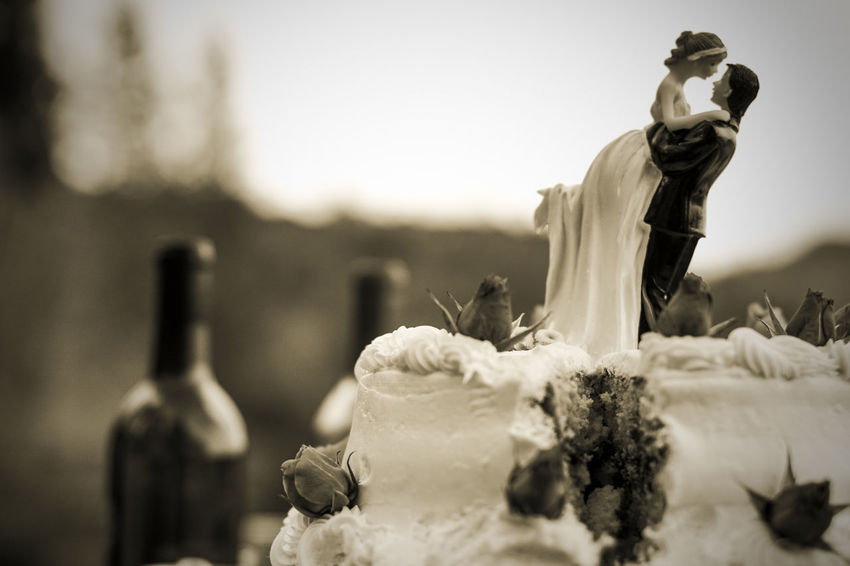 Black & White Black And White Blackandwhite Bride Bride And Groom Cake Monochrome Photography Close-up Eye4photography  EyeEm Best Shots EyeEm Gallery EyeEmBestPics Focus On Foreground Food Food And Drink Food Porn Foodphotography Foodporn Groom Showcase June Outdoors Selective Focus Wedding Wedding Photography Weddings Around The World A New Beginning