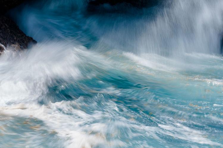 Full frame shot of water flowing in swimming pool