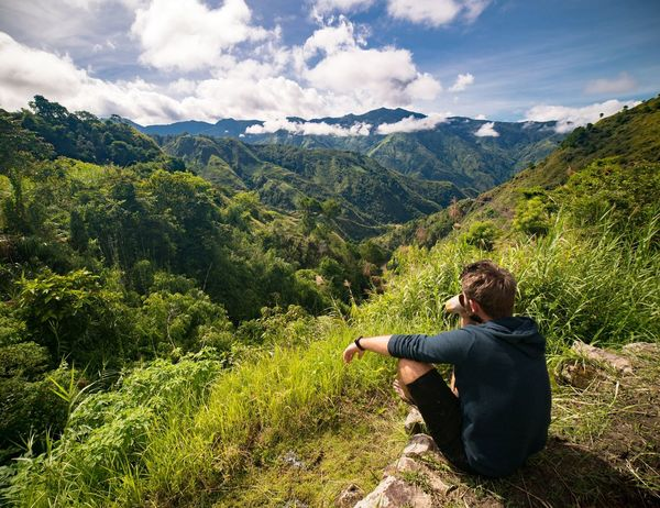 Coffee break in Buscalan EyeEm Selects EyeEmNewHere Cloud - Sky Mountain Only Men One Man Only Nature Adult Mountain Range People Outdoors Beauty In Nature Sky Day One Person Men