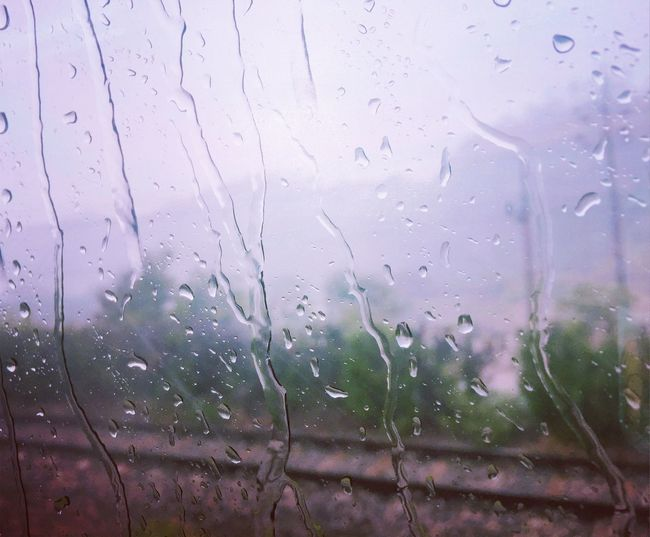 Close-up Day Drop Freshness Indoors  Nature No People RainDrop Sky Water Wet Window