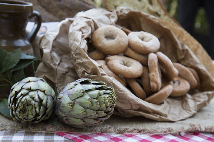 Artichoke Artichokes Beige Tones Bio Biological Close-up Day Food Food And Drink Freshness Green Healthy Eating No People Restaurant Sweets