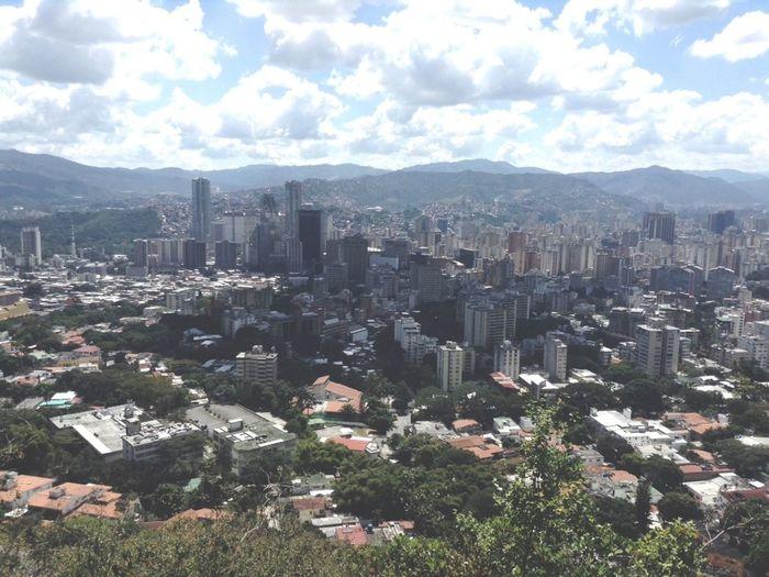 Aerial Shot Cota Mil Caracas City